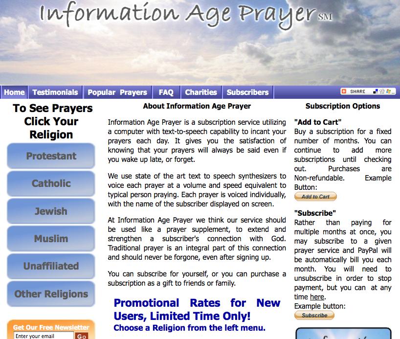 Online Prayer Service!!